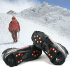 S M L XL Size 10-Stud Snow Shoe Grips Ice Anti Slip Snow Crampons Cleats Cover