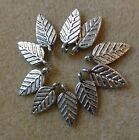 leaf charms tibetan silver 10 pcs USA seller 2 styles to choose from