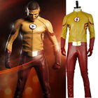 The Flash 3 Kid Flash Wally West Cosplay Costume Custom Size with Mask
