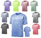 MEN'S MOISTURE WICKING, SHORT SLEEVE, PERFORMANCE, HEATHERED T-SHIRT, XS-4XL