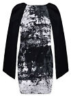 Ladies Tunic New Womens Long Angel Sleeved Black And White Top Dress UK 8-14