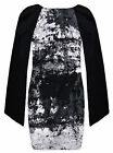 Ladies Tunic New Womens Long Angel Sleeved Black White Top Dress UK 8-14 S/M M/L