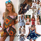 New Womens Mini Playsuit Beach Dress Ladies Summer Sundress Jumpsuit Beachwear