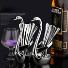 NEW Stainless Steel Fruit Fork&Spoon Swan Base Coffee teaspoon Cutlery Set 249H