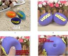 100 pcs Dog Toys Pet Puppy Rugby Chew Ball Squeaky Sound Random colors wholesale