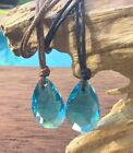 2 x BF H20 Just Add Water Style Blue Crystal Black Brown Necklace Pendant H2O