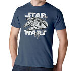 Star Wars Millennium Falcon Initiating Hyperdrive Heather Blue Adult T-Shirt