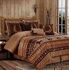 Chezmoi Collection 7pc Southwestern Wild Horses Microsuede Bedding Comforter Set