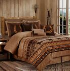 Chezmoi Collection 7-Piece Southwestern Wild Horses Comforter Set or Curtain Set