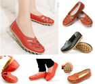 Women's Flat Comfort Leather Loafers Casual Boat Shoes Ladies Comfy Fashion Hot