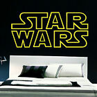 LARGE STAR WARS STARWARS LOGO OUTLINE WALL ART STICKER TRANSFER