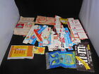 Huge Lot Vintage 1960s CEREAL BOX Flaps Parts Restoration + Candy Snack Wrappers