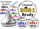 108 GRADUATION PARTY FAVORS HERSHEY KISS KISSES LABELS