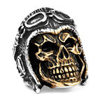 New Man's Stainless Steel Ring Army Skull Titanium Steel Rings A423
