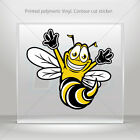 Sticker Decals Happy Bee, Hornet, Wasp, Vespa Helmet durable st5 XWWW8