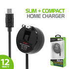 Cellet FAST RAPID CHARGE 2.4A 12W Retractable Micro USB Home Charger for Phones