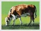 Cow Grazing Needlepoint Kit or Canvas (Animal)