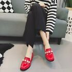 Pearl Oxford Square Toe Block Pump Casual Solid Slipper Chic Work OL Women Shoes
