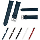 Genuine Leather Soft Replacement Watchbands Strap Steel Buckle Wrist Watch Band