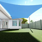 Sun Shade Sail Permeable Rectangle Square Outdoor Patio Deck Pool Canopy UVTop