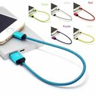25CM/1Ft Braided  Micro USB Data&Sync Charger Cable For Android  For phone