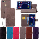 New Fashion Embrossed Leather Flip Wallet Card Holder TPU Case Cover For Huawei