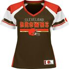 NEW Majestic NFL CLEVELAND BROWNS V-Neck Jersey Womens
