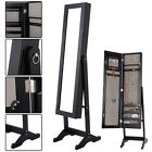 Stand Mirrored Cabinet Armoire Dressing Mirror Jewelry Ring Organize Storage Box