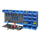 Tool Rack Kit & Louvre Panel Bin Kit Garage Shelving Storage Workshop DIY Bundle