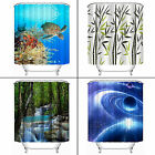 New Waterfalls Nature Scenery Shower Curtain Bathroom Waterproof Fabric 72 Inch