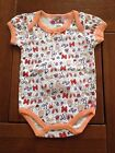 NEW***MON PETIT®Cute Baby GIRLS Quality Short Sleeve Onesie***Peach***6-9 month
