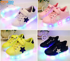 New Children Kids Boys Girls LED Lights Shoes Toddler Casual Shoes Size 5-11