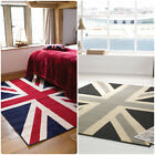 Buckingham Great Britain Flag Rug in Blue/Red/White and Grey/Cream/Black Carpet