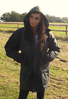 New Wax Coat Padded Jacket British Olive Green Ladies 8 10 12 14 16 18 20 22 24