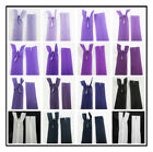 """No.3 CONCEALED 5"""" - 30"""" CLOSED END NYLON ZIPS PURPLE HABERDASHERY ZIPPER SEWING"""