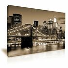 New York City Stunning Night View Canvas Wall Art Home Office Deco