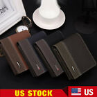 Mens Leather Polyester Bifold Money Card Holder Wallet Coin Purse Clutch Pockets