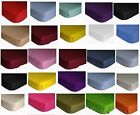 PolyCotton Fitted Sheet Grey Black Red Teal Pink White cream Single Double king