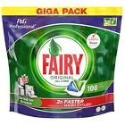 Fairy All In One Original Giga Pack of 100 Dishwasher Tablets Detergent Capsules