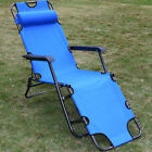 New Metal Folding Chaise Lounge Chair Patio Outdoor Pool Beach Lawn Recliner US cheap