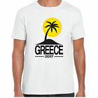Greece 2017 Holiday - MensT shirt - tour stag clubbing Palm