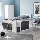 Happy Beds Cookie Cabin Bed 3ft Wooden White and Charcoal Grey Kids Furniture
