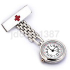 High Quality Stainless Steel Nurse Watch Brooch Tunic Fob Watch Quartz NewUS