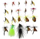 Wet Dry Fly Fishing Lures Bass Nymph Woolly Bugger Streamer Emerger Caddis Trout