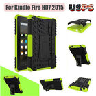 Soft Rubber Shockproof Hybrid Hard Case Cover Stand Holder For Kindle Fire HD7