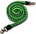 Roping Knotted Horse Tack Western Barrel Reins 607 P
