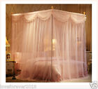 Princess style mosquito net bed curtain valance bed netting canopy frames queen image