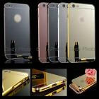 For HTC One 2 M8 M8S M8X Gold Frame Mirror Aluminum Case Cover Bumper Acrylic