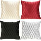 "SAVOY LUXURY VELVET DIAMOND CUSHION COVERS FAUX SILK REVERSE 18"" & 22"""