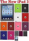 AMZER Silicone Jelly Skin/ Luxe Argyle Case /Screen Protector For The New iPad 3